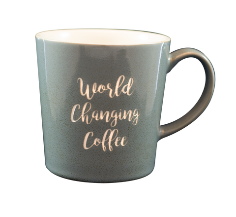 World Changing Coffee Engraved Mug (gray)