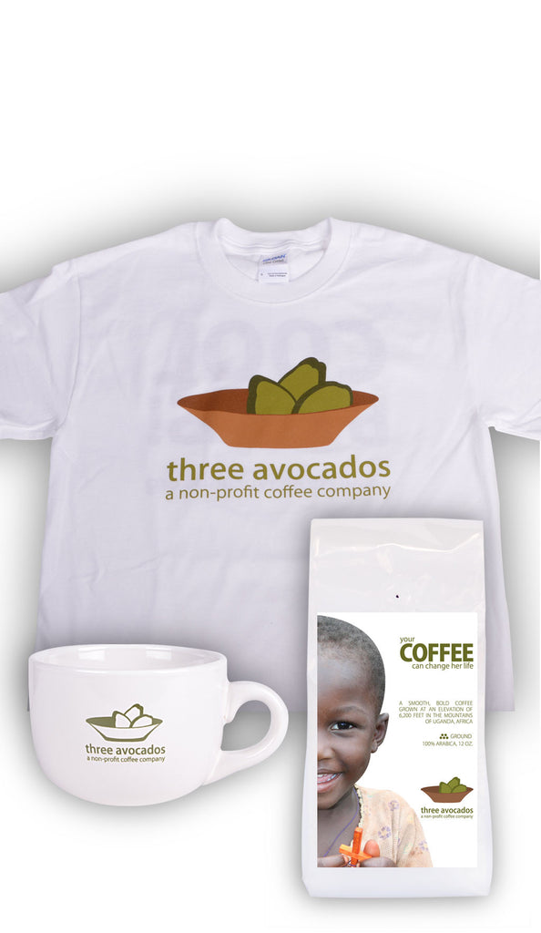 Coffee + Mug + T-Shirt Combo