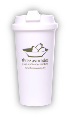 Three Avocados 16oz Plastic Tumbler. BPA Free