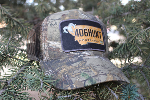 Camo Hunt Montanably Hat Mesh Back