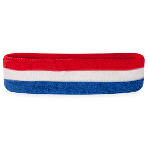 Kids Red White & Blue Head Sweatbands