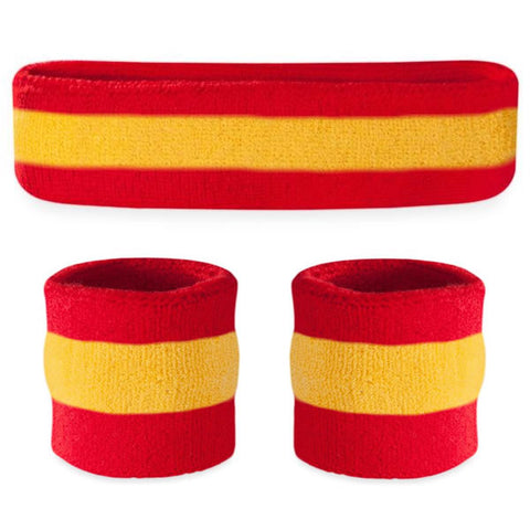 Striped Sweatband Sets