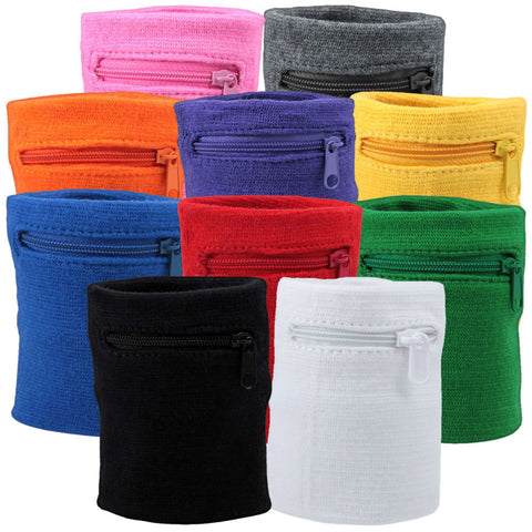 Zipper Sweatband Wristbands