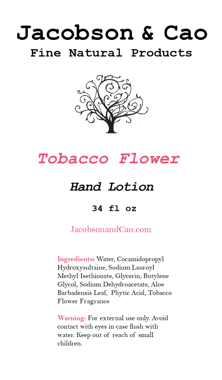 Tobacco Flower Hand Lotion Refill <p> 34 fl oz </p>
