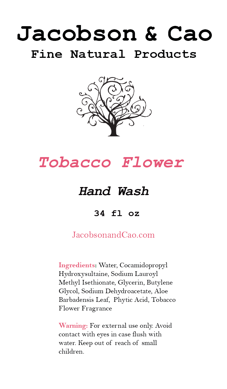 Tobacco Flower Hand Wash Refill<p> 34 fl oz </p>