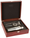 Stainless Steel Shaker set in Rosewood box
