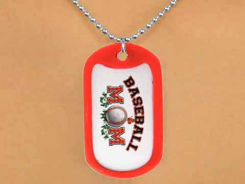 "BASEBALL ""BASEBALL MOM"" DOG TAGS"
