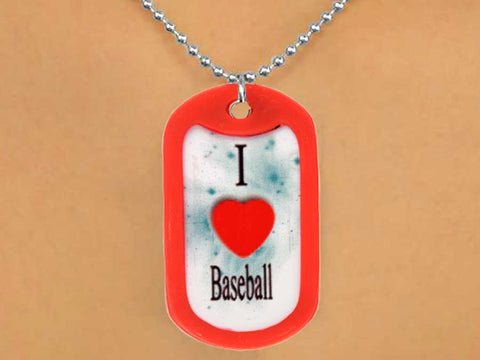 "BASEBALL ""I (HEART) BASEBALL"" DOG TAGS"