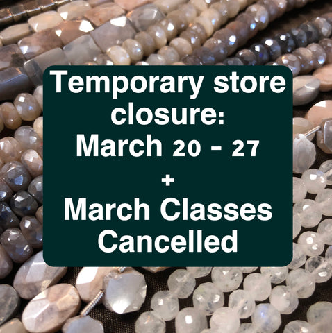 Announcement: COVID-19 temporary closure + cancellation of March Classes