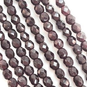 Garnet - 4mm Fire Polished Czech Glass