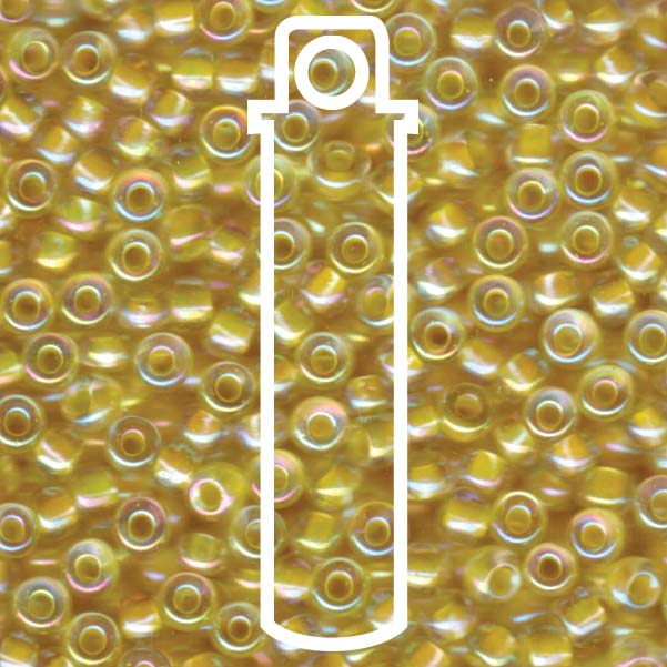 Miyuki Light Yellow Lined Crystal 6/0 Seed Beads