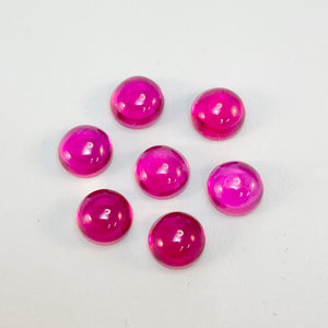 6mm Ruby Cabochon (synthetic)