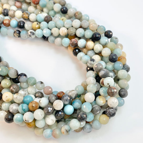 Amazonite - 8mm faceted round strand