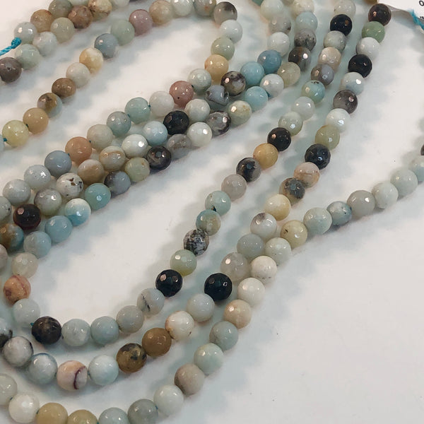 Amazonite - 6mm faceted round strand