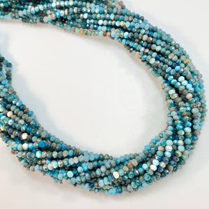 Apatite - 3mm,Ffaceted, Rondell