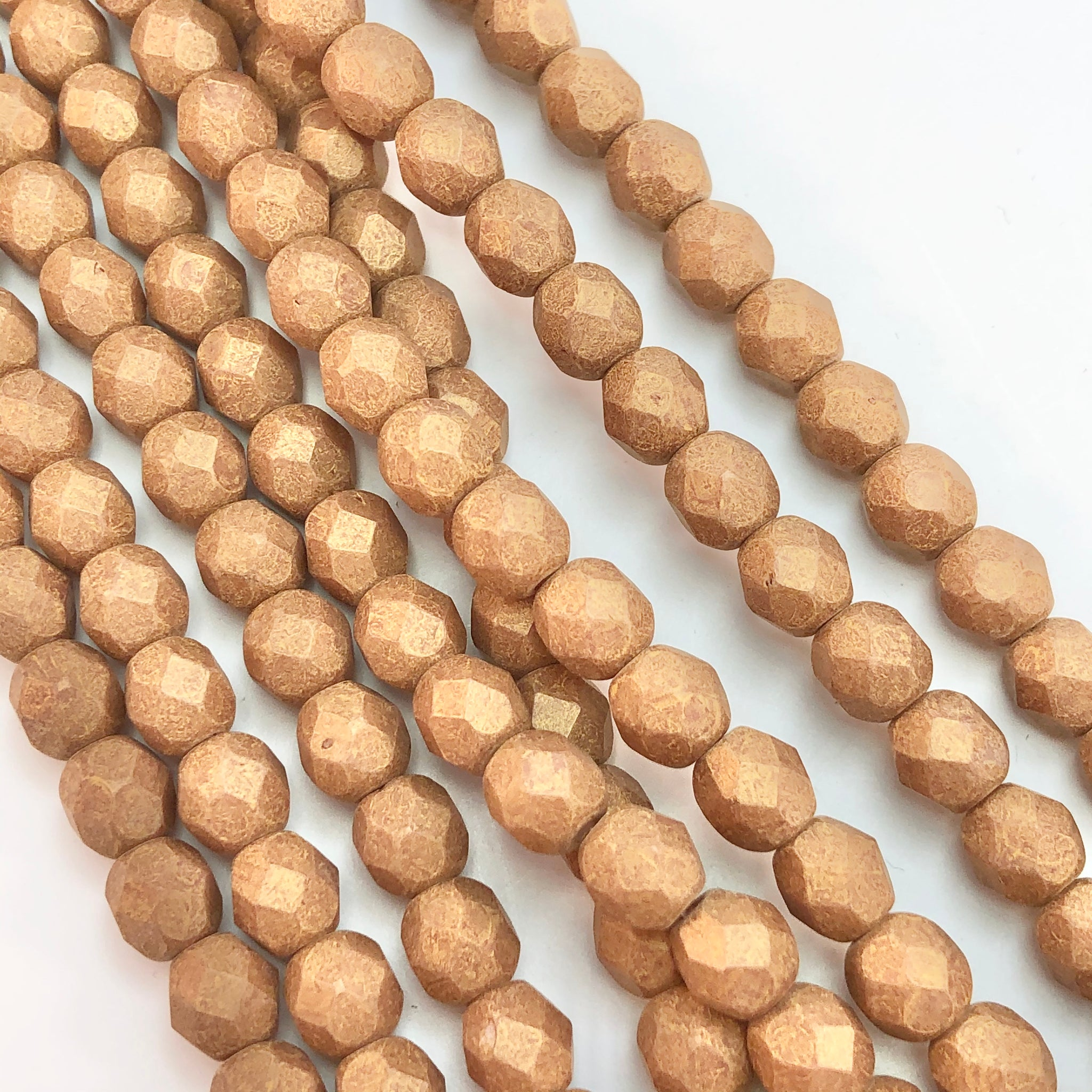 Pacifica Macadamia- 6mm faceted Czech