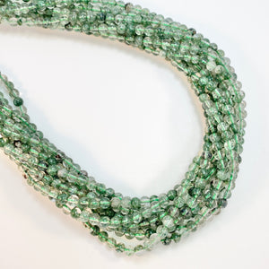 Flourite, Green - 4mm Round, Smooth