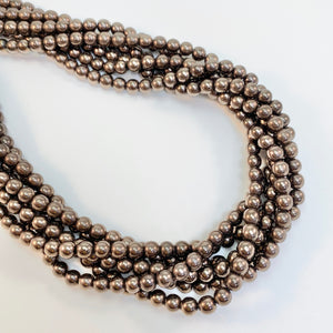 Bronze Hematite - 6mm smooth round