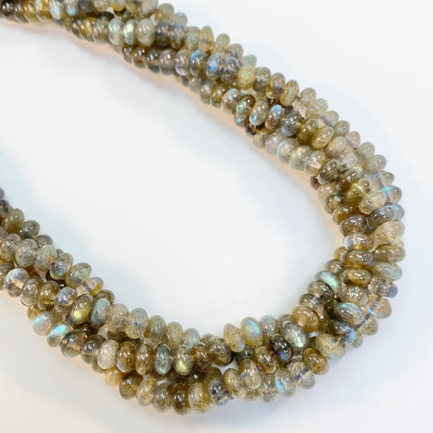 Labradorite - 6mm rondel, smooth