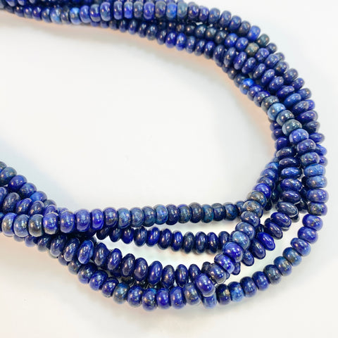 Lapis - 6mm smooth rondels