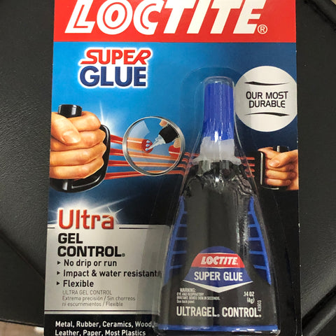 Glue: Loctite Super Glue Ultragel Control