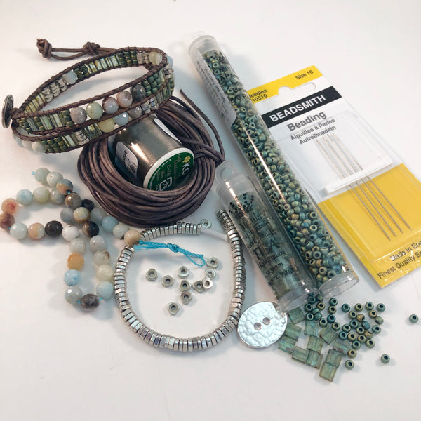 Kit: Mosaic Double Wrap Bracelet - choice of color palette