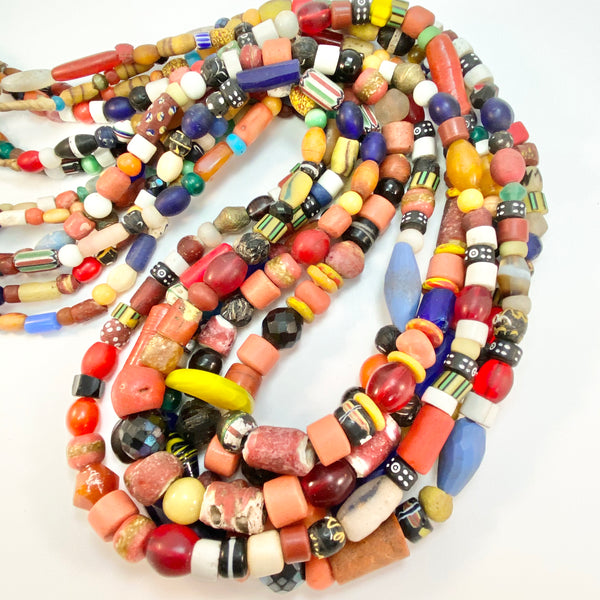 African Trade Beads - Old Beads - Mixed Strand - Long