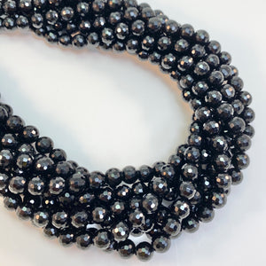 Onyx - 8mm Faceted, Round