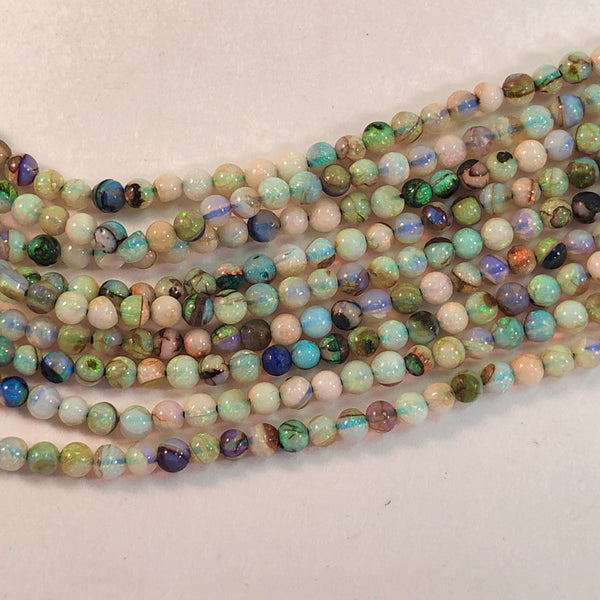 Opals - Cultured Round smooth 2mm - 16 inch strand