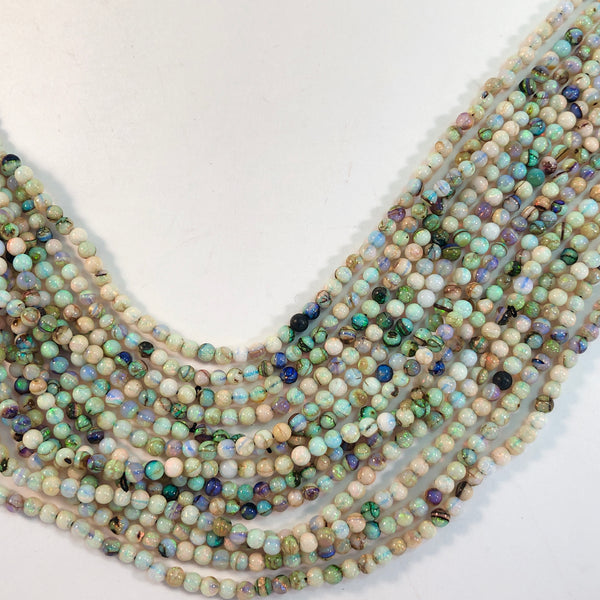 "Opals - Cultured Round smooth 2.5mm - 15.5"" strand"