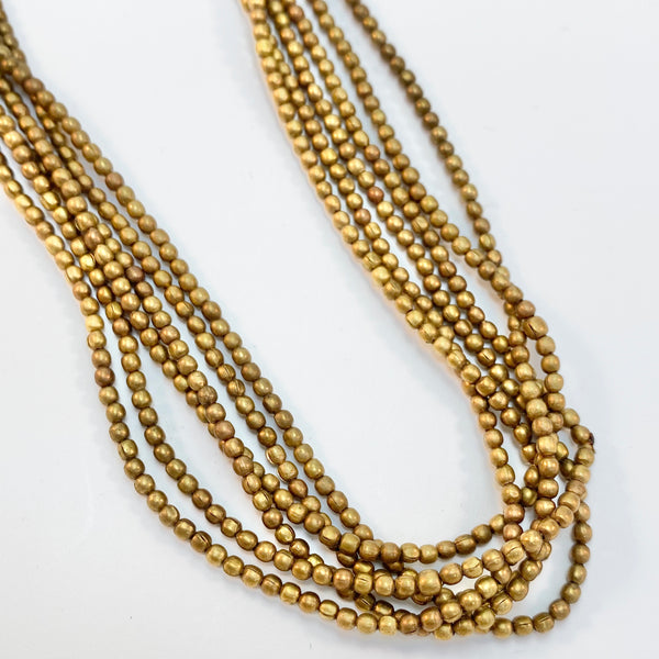 Metal - 2mm Round Brass Bead Strand