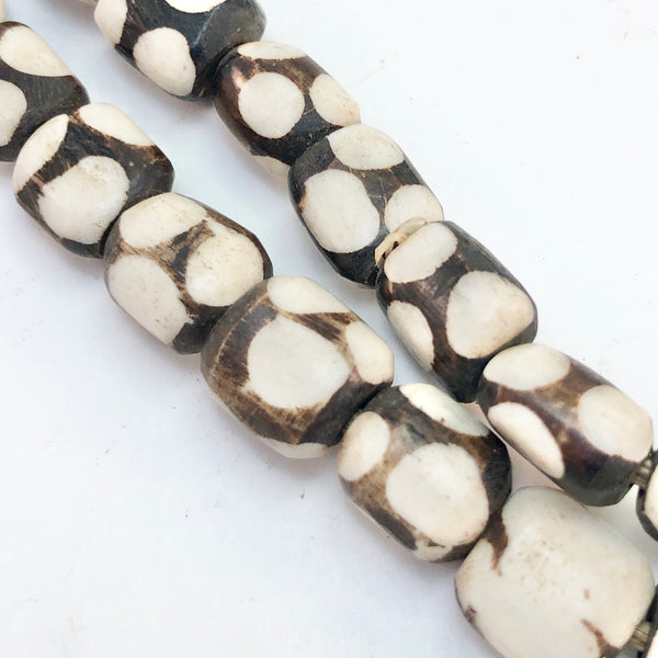 African Trade Bead - Batik Buffalo Bone