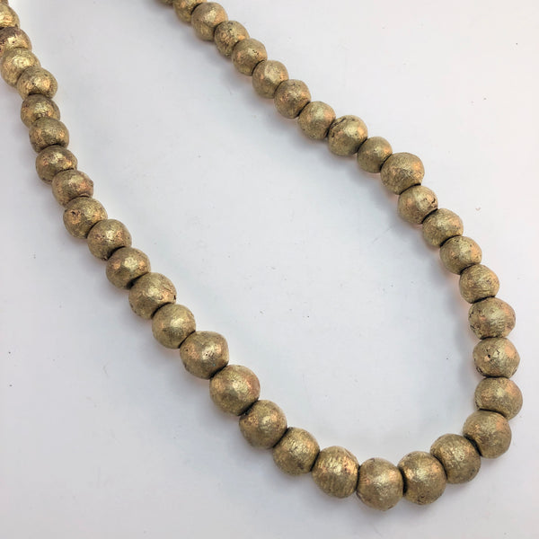 African brass round spacer beads 12-13mm