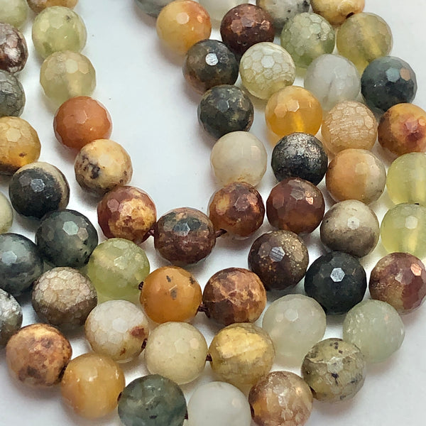 Antique Jade - 6mm Round, faceted