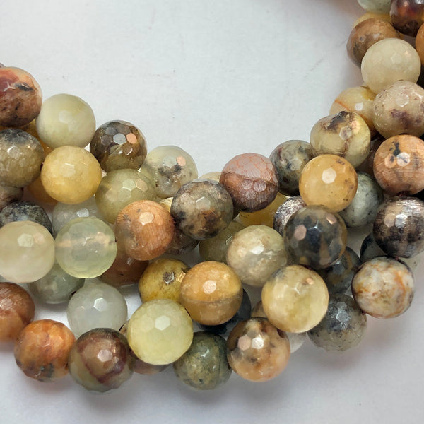 Antique Jade - 8mm Round, faceted