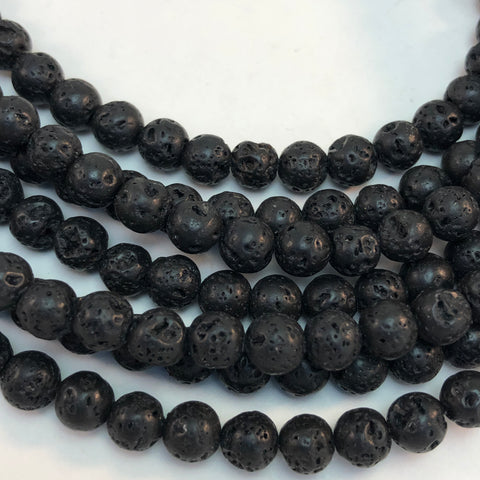 Lava -10mm Round Black