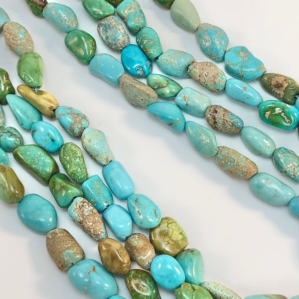 Turquoise - Nevada 8 long nuggets