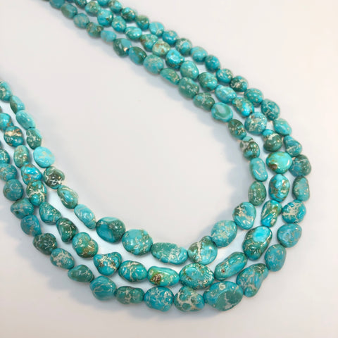 Turquoise - Nevada Fox Graduated Strand