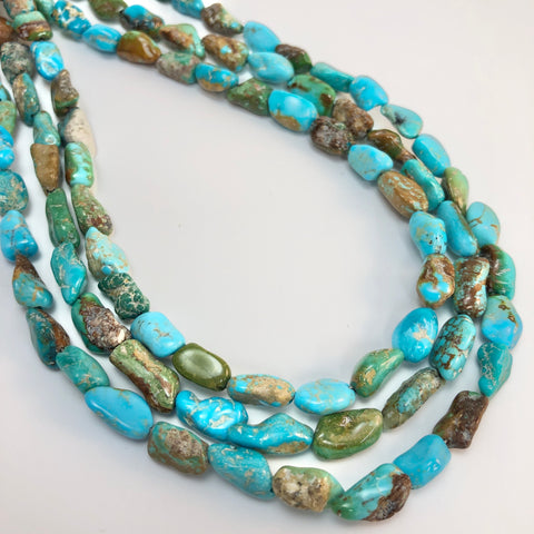 Turquoise - Nevada 8 long nuggets (high polish)