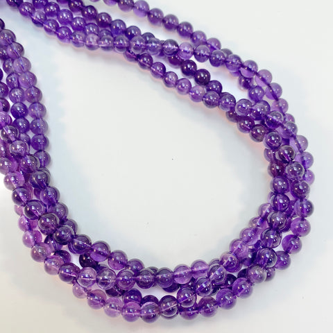 Amethyst - 6mm Round, smooth
