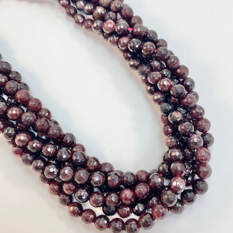 Garnet - 6mm Round, faceted