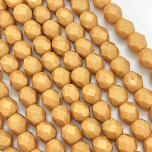 Pacifica Ginger - 6mm faceted Czech