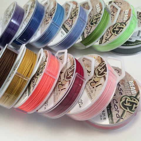 Chinese Knotting Cord - .8mm x 15m - assorted colors