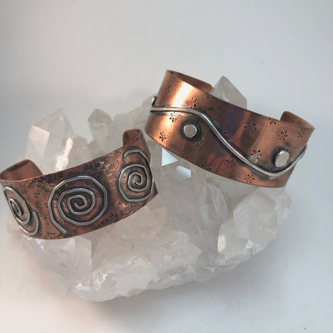 e6    Copper + Sterling Soldered Cuff Bracelet: Thursday January 30, 2020 @ 12 - 4 pm