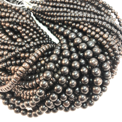 Wood - Black Ebony - 4,6,8,10mm Strands