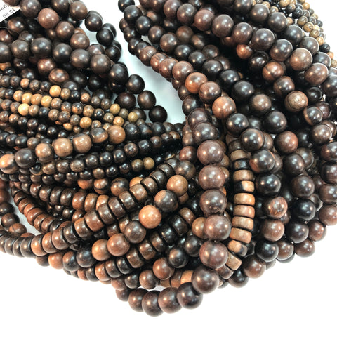 Wood - Tiger Ebony - 5,6,8,10mm Strands