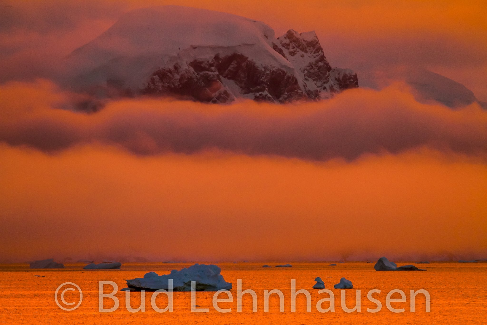 Sunrise at Gerlache Strait, Antarctica