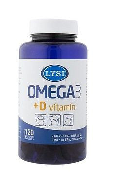 Omega-3 with D vitamin (120 capsules) - Topiceland