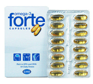Omega-3 Forte fish oil (64 capsules) - Topiceland