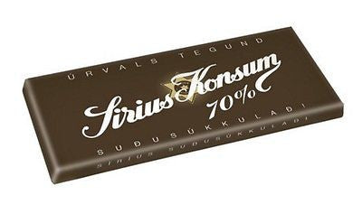 Sirius Konsum chocolate 70% (100gr) - Topiceland